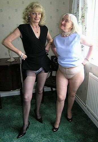 Old ladies in pantyhose