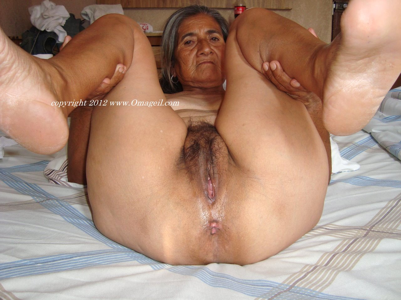 image Old couple has fun on web cam amateur older